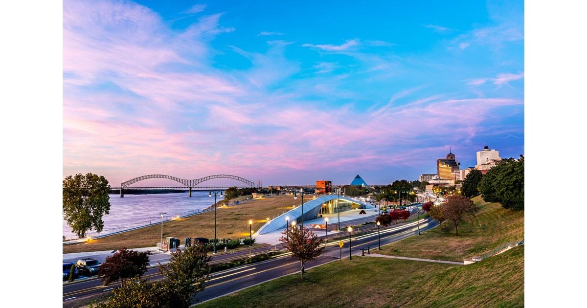 Memphis Skyline at sunset. Photo by Phillip Van Zandt courtesy Memphis Tourism