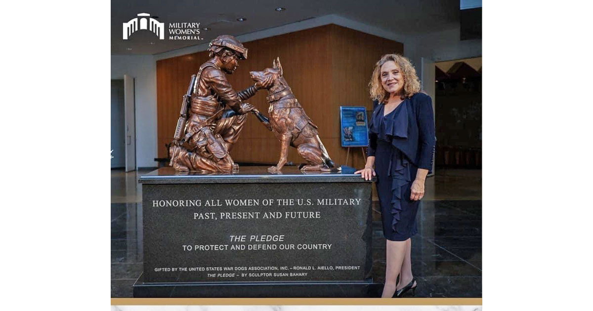 Military Women's Memorial - The Pledge Sculptor Susan Bahary