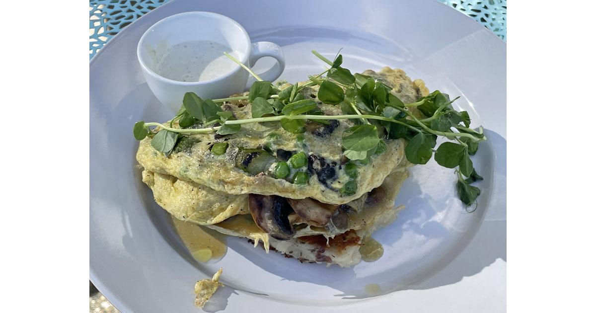Mushroom omelet at Over Easy