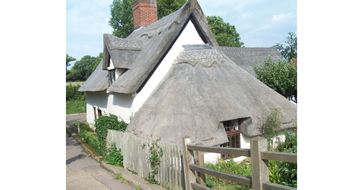 Timber framed and thatched cottage