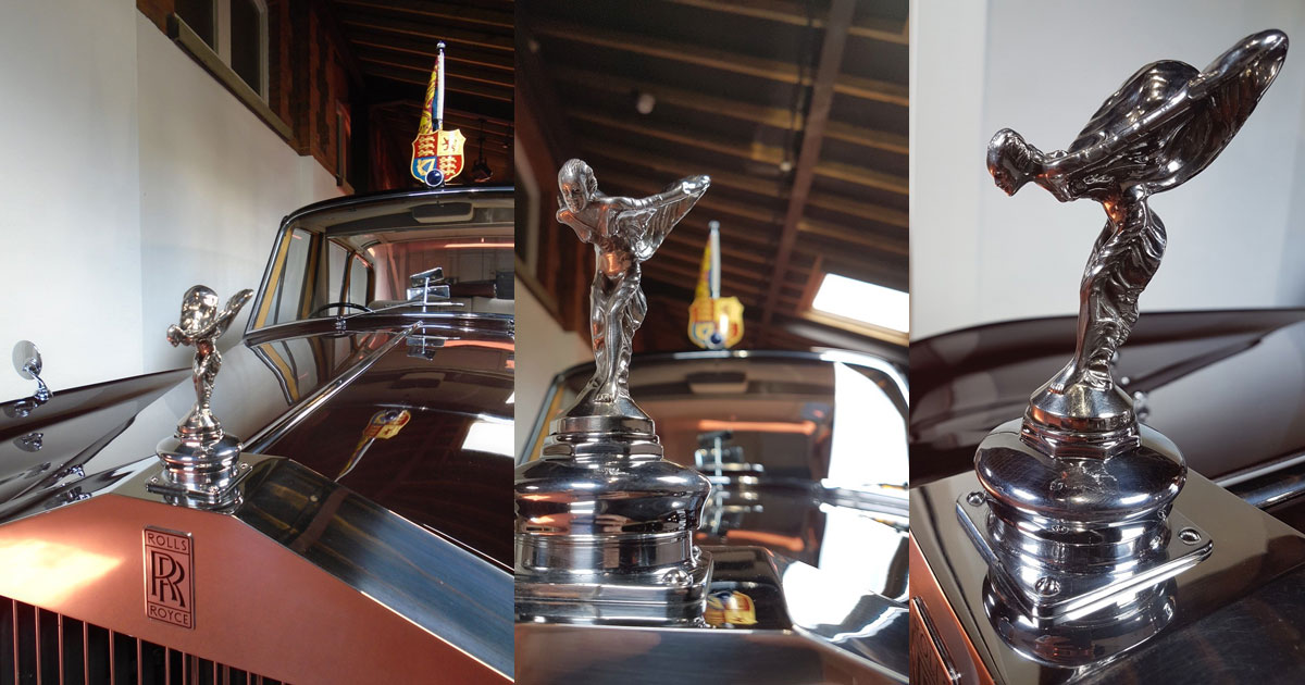 One of the Queens cars - The Spirit of Ecstasy