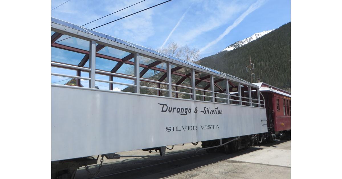 Open air train car