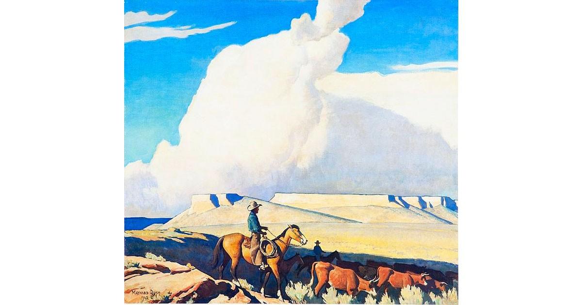 """Open Range"", Maynard Dixon, 1942. wikimedia"
