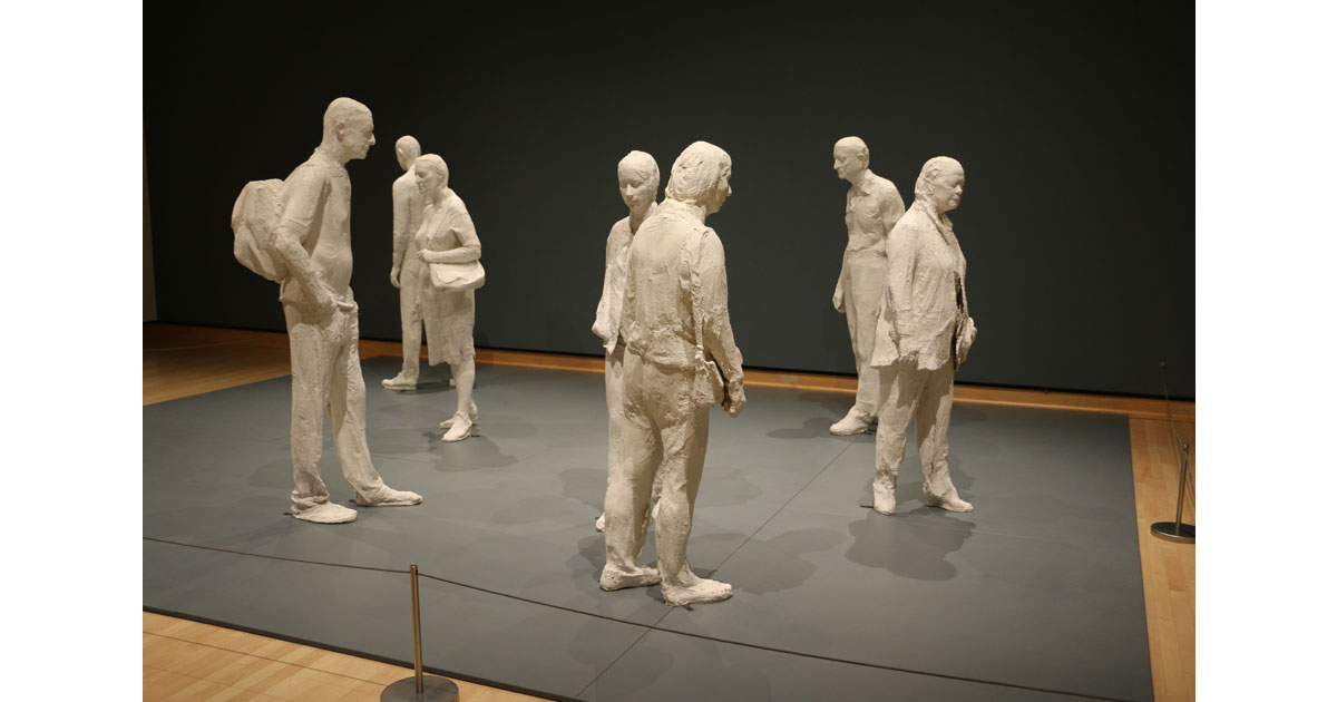 People in Public Spaces by George Segal. On exhibit at Frederick Meijer Gardens.