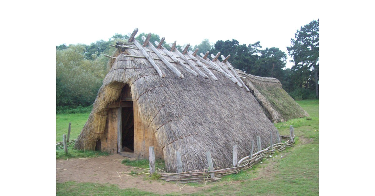 Reconstructed Saxon home