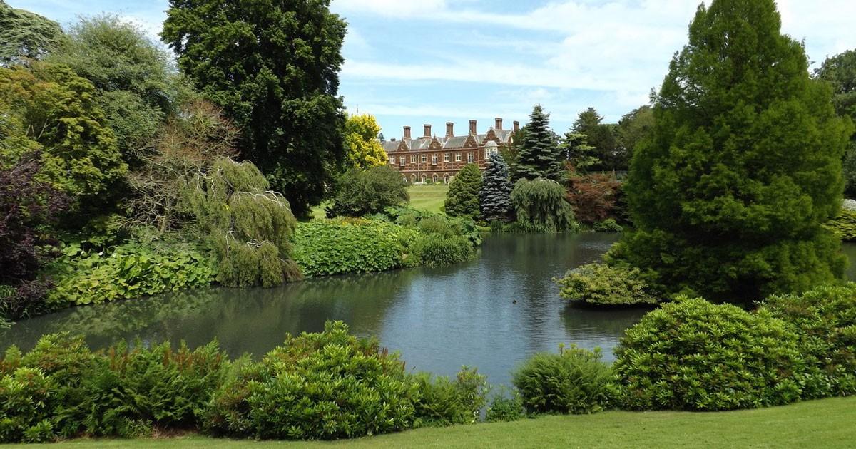 Sandringham House from across the lake