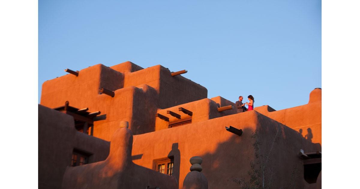 Santa Fe Loretto Sunset