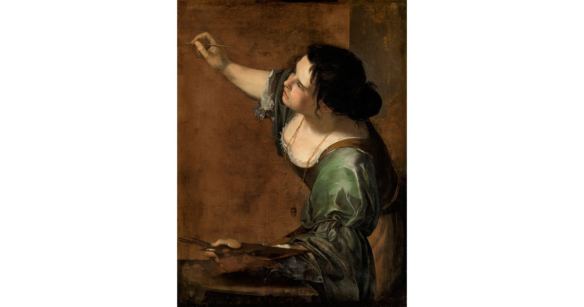 Self-portrait as the Allegory of Painting-Artemisia Gentileschi