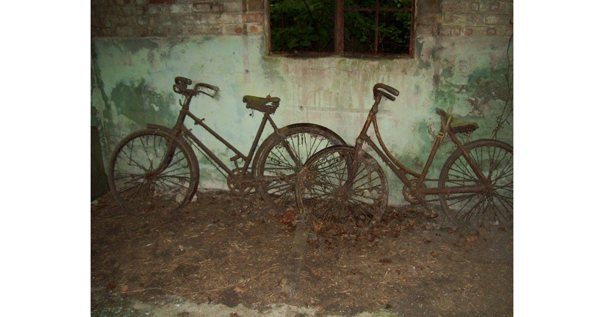 Shipdham Airfield abandoned bikes WWII