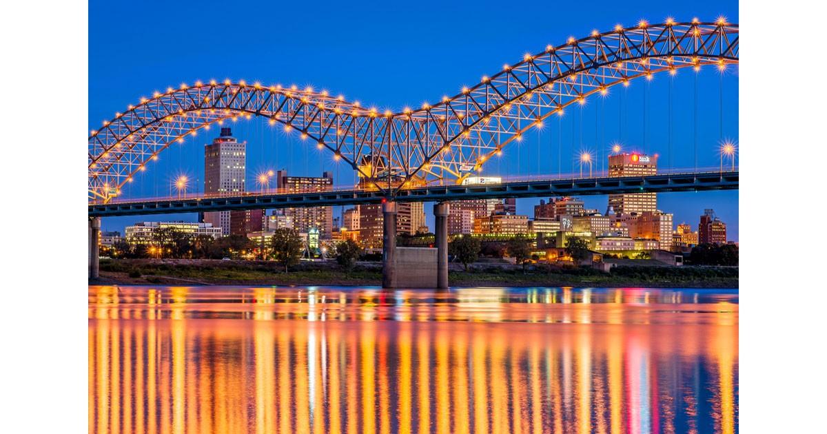 Skyline Bridge. Photo by  Phillip Van Zandt courtesy Memphis Tourism