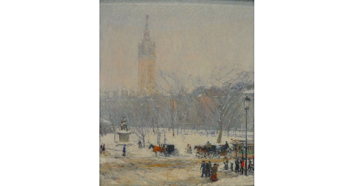 Snowstorm, Madison Square, 1890