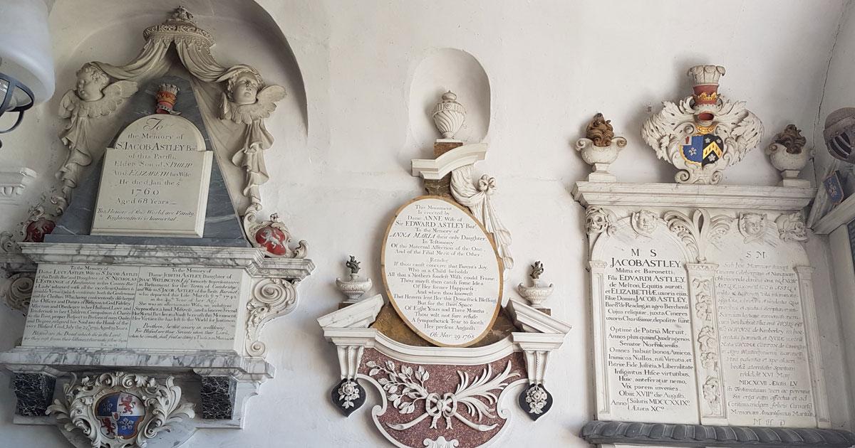 Some beautiful memorials.