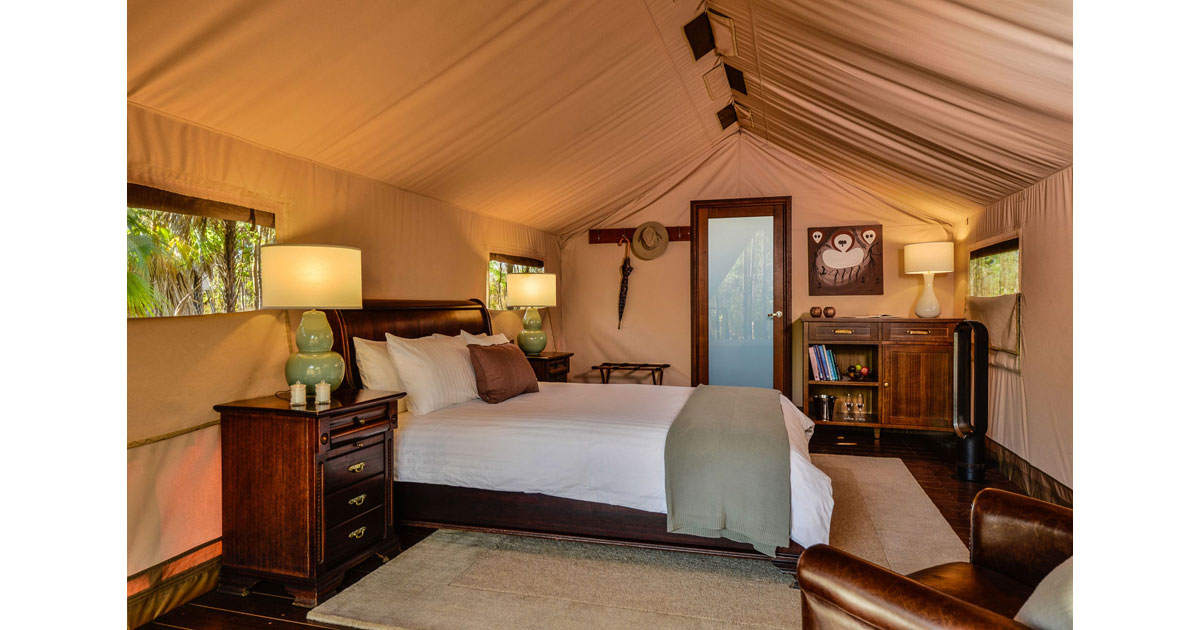 Spacious Bedrooms with Exclusive Tents