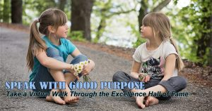 Speak with Good Purpose Excellence Hall of Fame