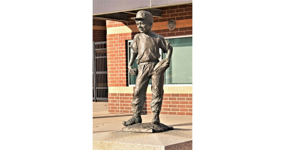 Statue in Front of Jackson Field