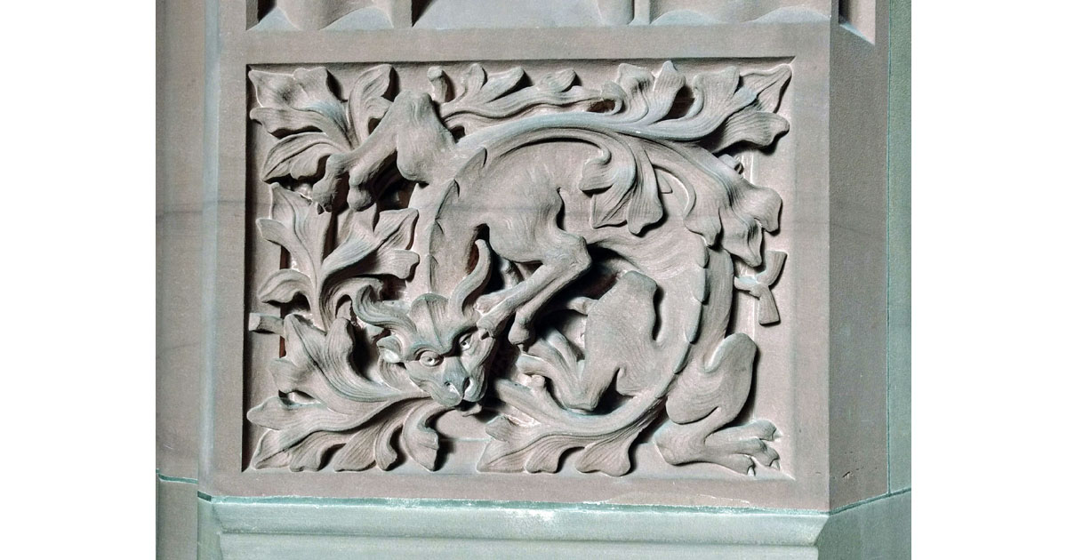 Stone Dragon - Rylands Library by Hilarie Larson