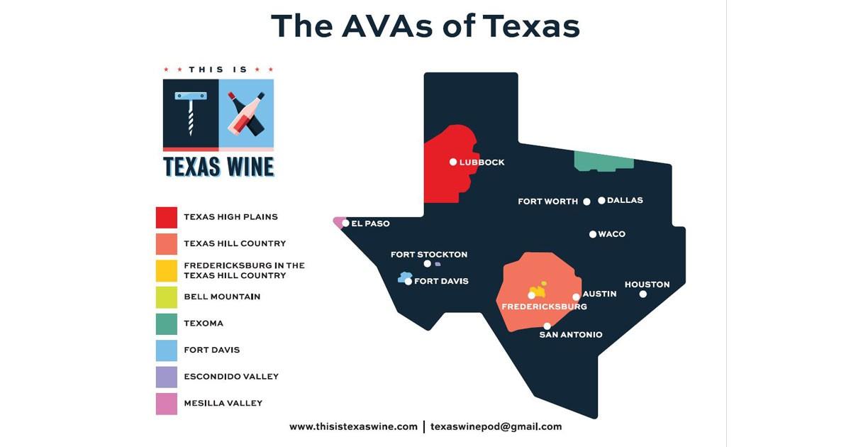Texas AVA Map