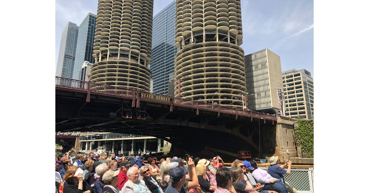 The twin towers of Marina City
