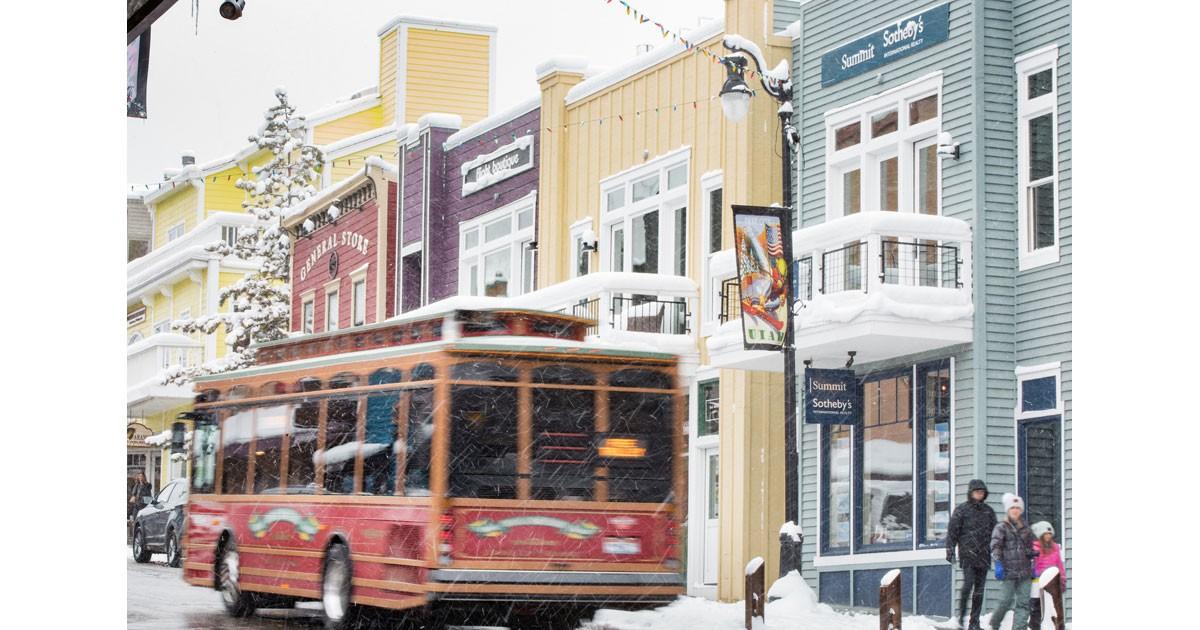 Trolley in Park City, Utah