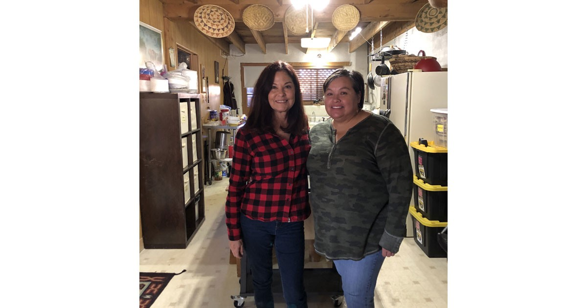 Debra Torres and Priscilla at San Idlefonso Pueblo