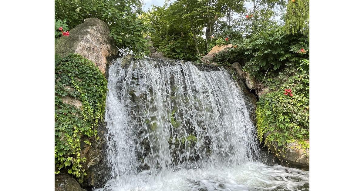 Waterfall garden.