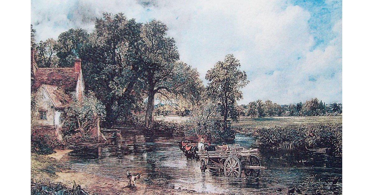 Willy Lott's Cottage painted by Constable