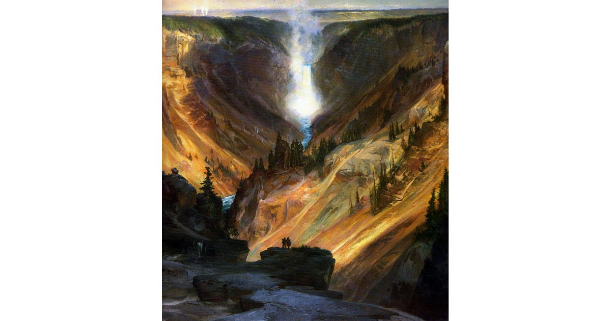 Yellowstone Canyon-Thomas Moran