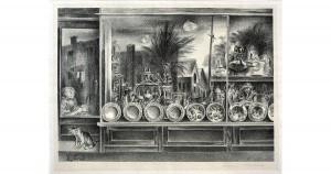 Aaron BOHROD - Reflections in a Shop Window