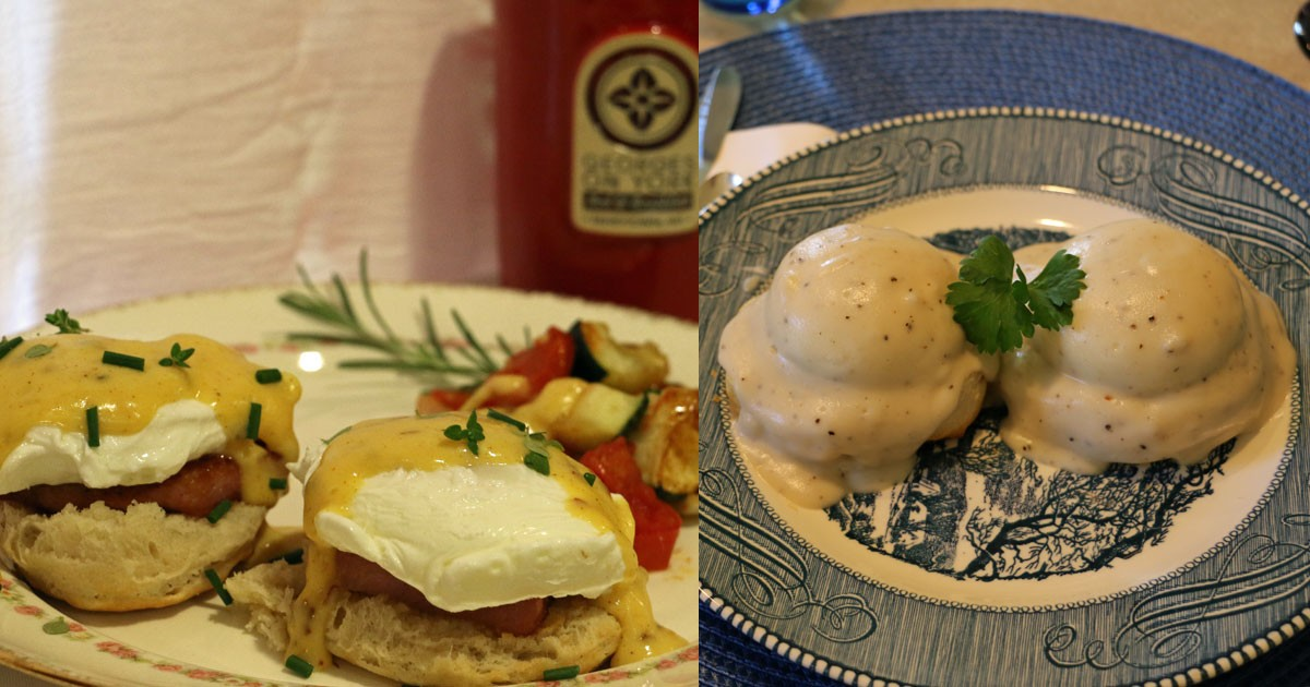Eggs Benedict Two Ways