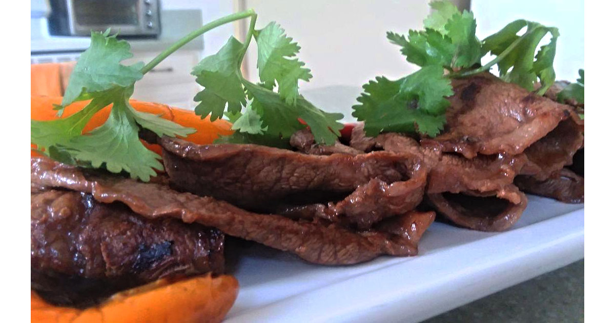 GRILLED FLAT IRON STEAK WITH ASIAN MARINADE