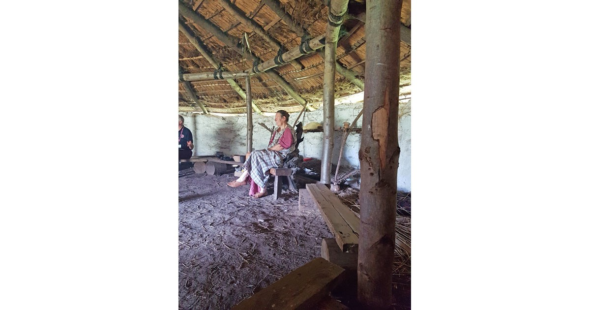 Inside a reconstructed Iron Age Roundhouse