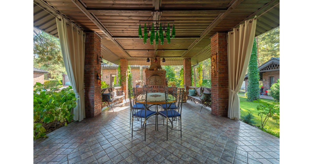 Outdoor dining room.