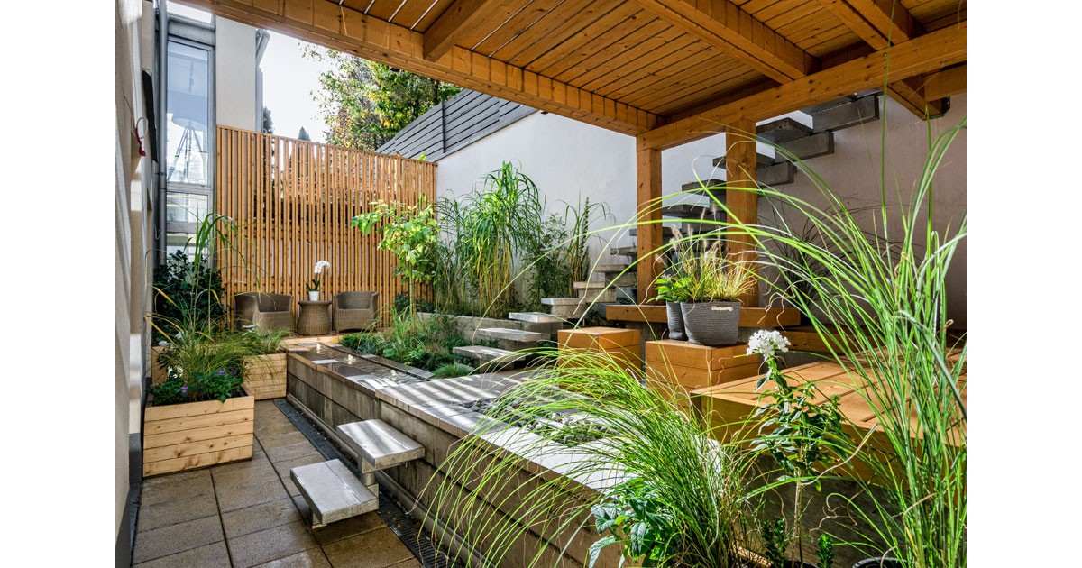 Add plants to your outdoor room.