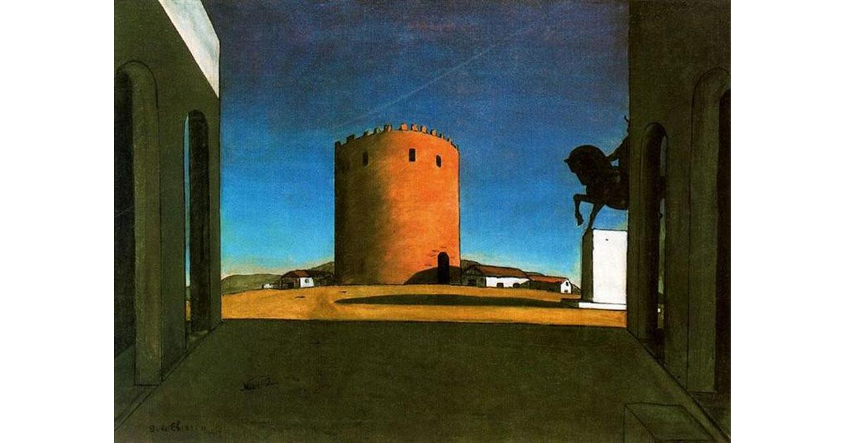 """The Red Tower"", Georgio De Chirico, 1913"