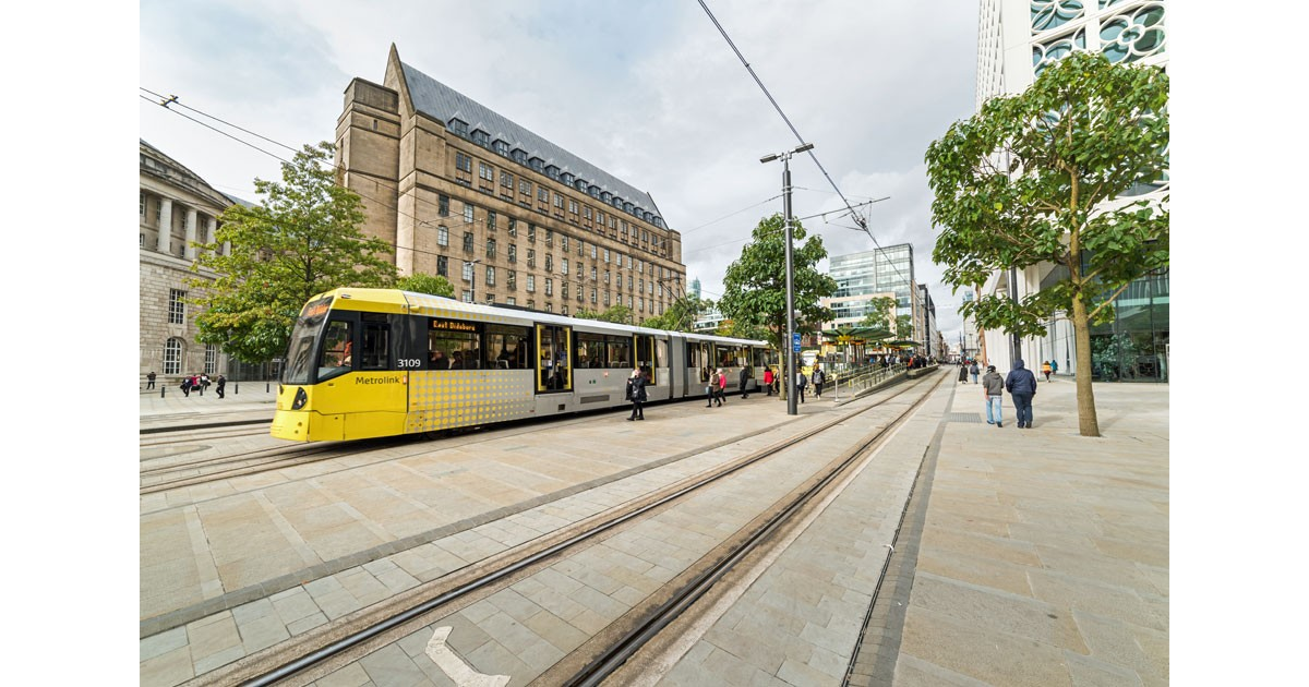 Tram-St Peters Square courtesy of Manchester Marketing