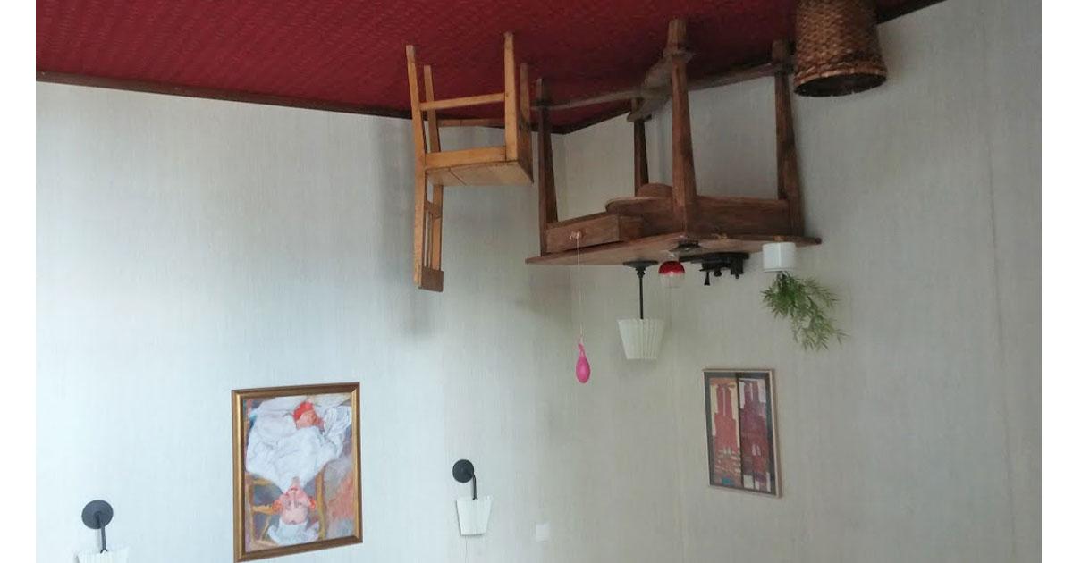 Upside-down-room at Korda